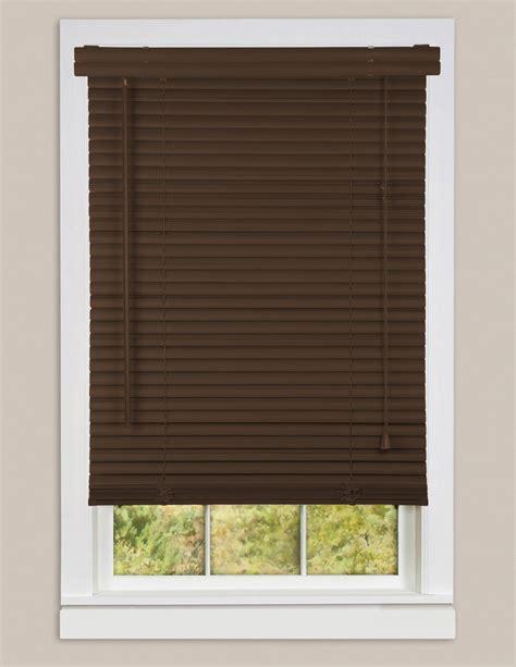 Brown Window Blinds window blinds mini blinds 1 quot brown chocolate vinyl blind ebay