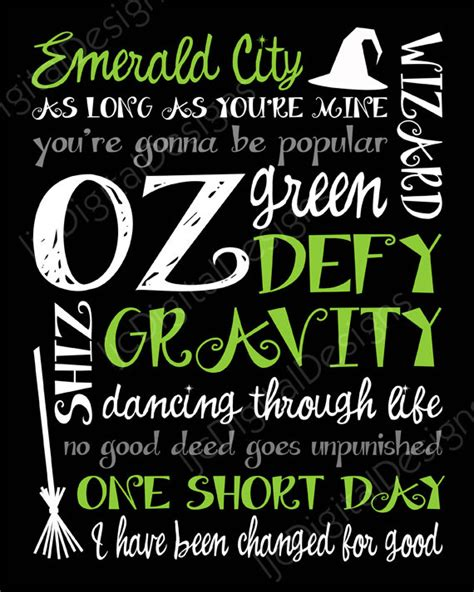 Printable Wicked Poster | printable wicked musical digital subway art by