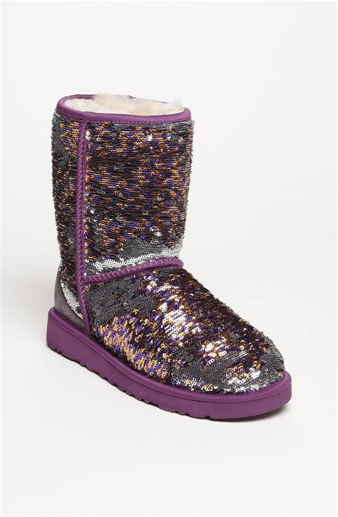 sparkle boots ugg classic sparkle boot in purple chagne