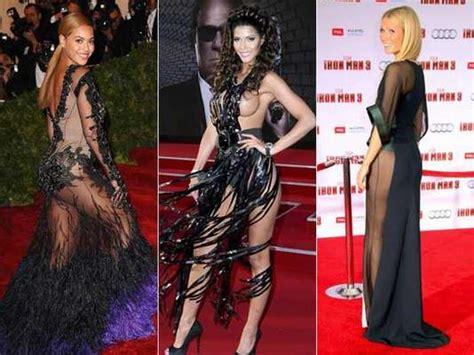 famosa ropa interior famosas lucen vestidos con transparencia y ropa interior