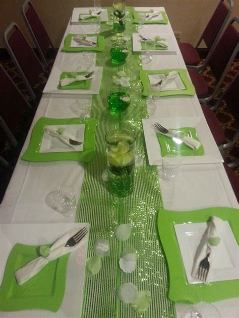 green table decorations lime green table decor wedding green table