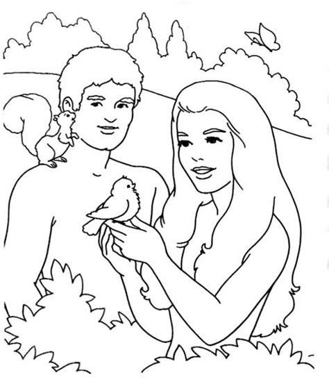 garden of eden bible coloring coloring pages