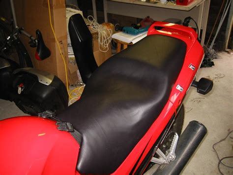 vinyl seat material motorcycle how to reupholster recover the seca ii seat xjridercom