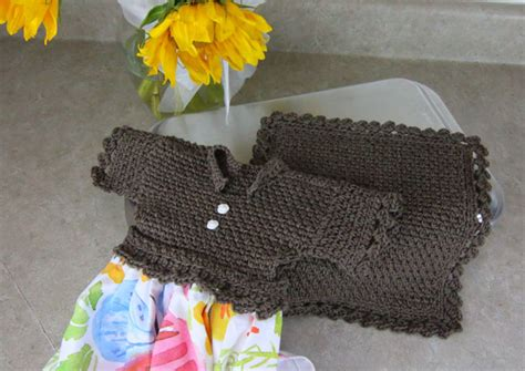 Crochet Kitchen Towel Topper by Dishcloth Wove Stitch Dishie And Towel Topper