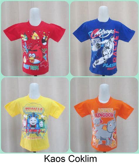 Baju Kaos Distro Anak Wazo Update pusat grosir kaos coklim anak karakter termurah rp 13 000