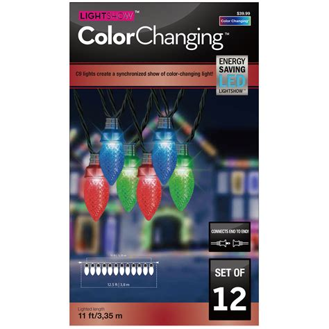 lightshow color change icicle lights gemmy light show color changing 12 led c9 light set seasonal lights