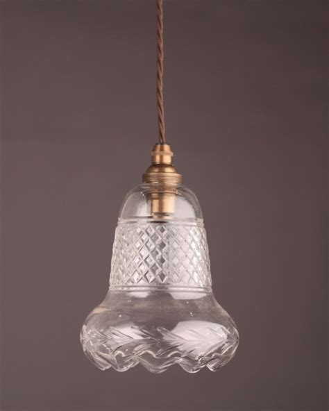 Small Glass Pendant Lights Small Cut Glass Pendant Light Fritz Fryer