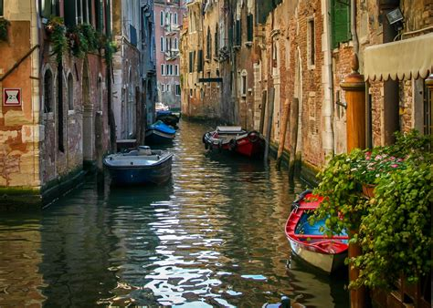 s day venice canal a stock photo of a colorful canal in venice italy