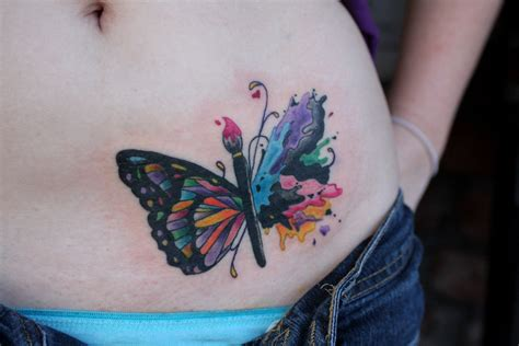 tattoo butterfly belly hip stars flowers tattoo of a butterfly voted 48 by 253
