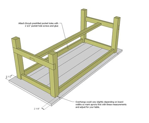 how to build a base for an apron front sink farmhouse table woodworking plans woodshop plans