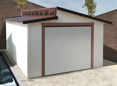garage bois porte coulissante torino toit 2 pentes