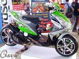 Modifikasi Vespa Ban Ukuran 17 by 2 Model Foto Modifikasi Motor Yamaha Xeon Tropie