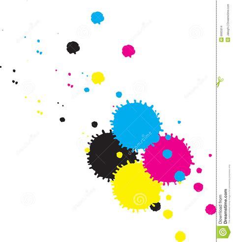 4 color print cmyk inkdrops vector stock illustration illustration of