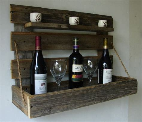 liquor wall rack rustic wall mount liquor wine rack with shelf handmade item from recl