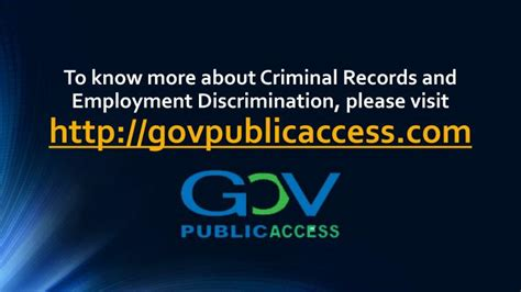 Can Employers Discriminate Based On Criminal Record Ppt Criminal Records And Employment Discrimination Powerpoint Presentation Id 7410494