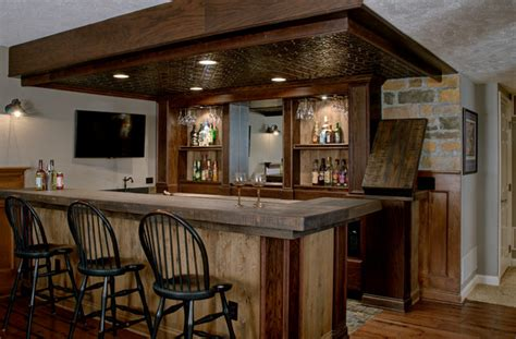 rustic basement bar custom basement bar rustic basement columbus by dave fox design build remodelers