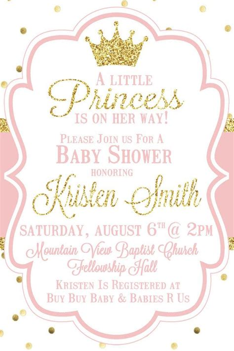 Baby Shower Invitations Princess Theme by De 25 Bedste Id 233 Er Inden For Princess Baby Showers P 229