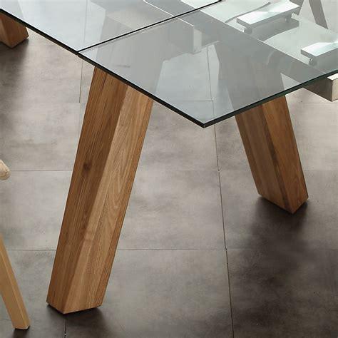 tavoli in legno e vetro tavolo da pranzo allungabile in legno acciaio e vetro albenga