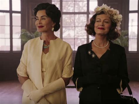 jessica lange and susan sarandon as joan crawford and the trailer for feud bette and joan serves us old