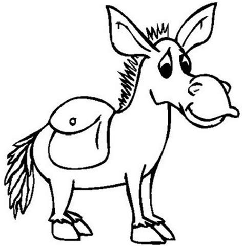 donkey coloring pages preschool donkey coloring child coloring