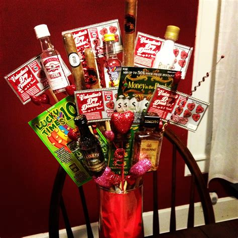liquor valentines gifts s day bro quet liquor lottery tickets and