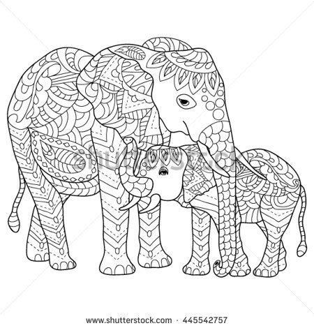 elephant mandala coloring pages for adults 168 best elephant coloring pages for adults images on