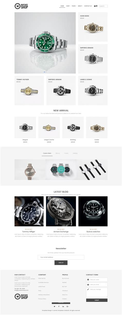 watches shop free virtuemart joomla template virtuemart