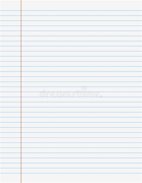 printable lined paper front and back exercise book paper page with lines stock vector image