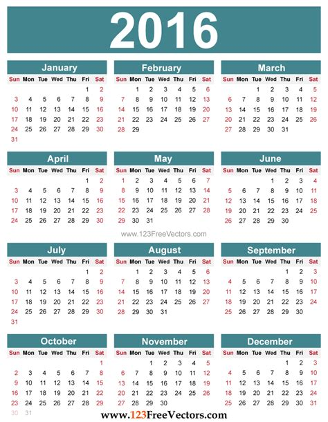 2016 calendar with holidays usa 2016 calendar with us holidays printable calendar