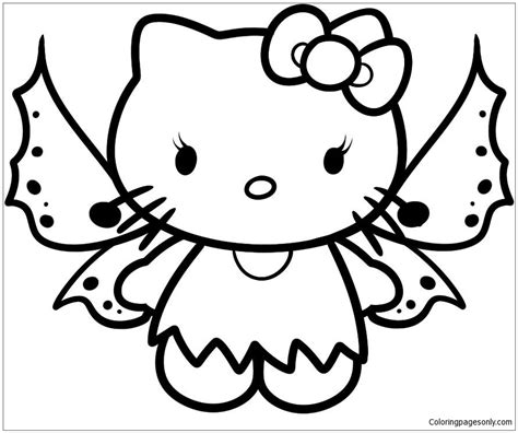 hello kitty coloring pages with crayons fairy hello kitty coloring page free coloring pages online