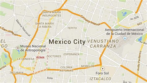 mexico city on a map mexico city neighborhoods map mexico map