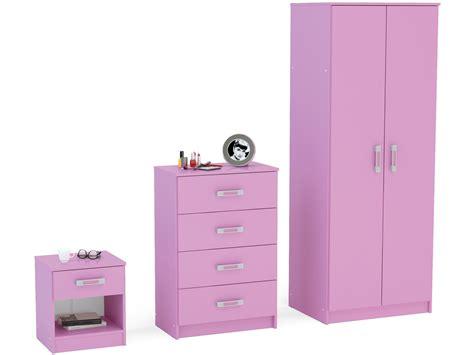 Pink High Gloss Wardrobe by Reflect Pink High Gloss Bedroom Furniture Set