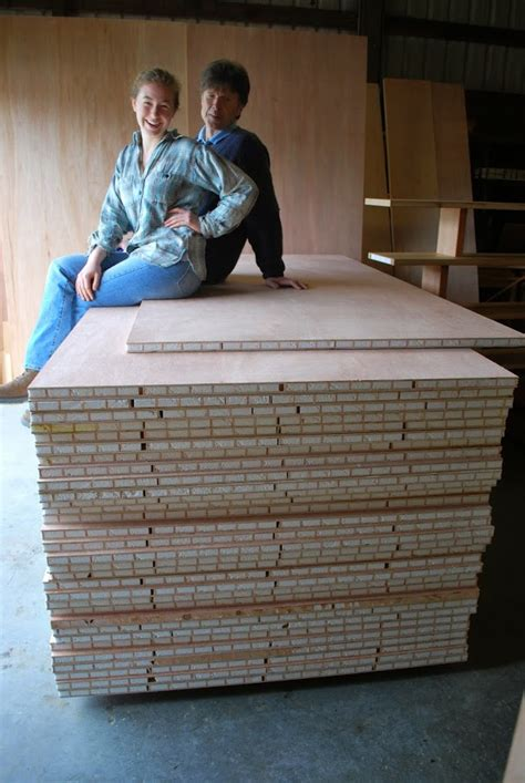 stack of 1 inch 4x8 torsion box composite plywood