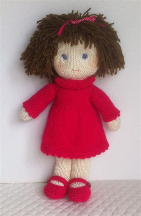 pattern knitting doll doll knitting pattern pdf instant download wool flats