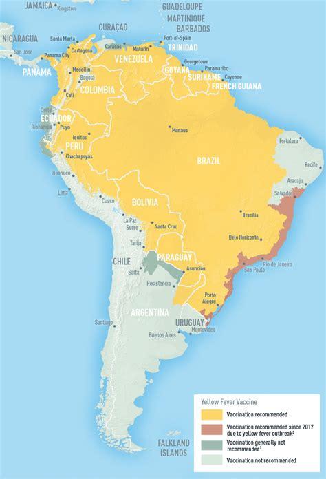 areas  risk  yellow fever virus transmission