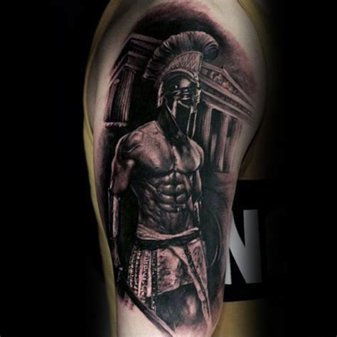 spartan warrior tattoo 90 black ink designs for ink ideas
