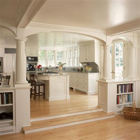 Kitchen Living Room Divider Ideas - dividing wall and sunken living room open kitchen