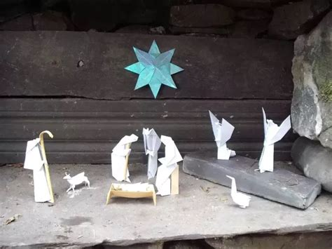 How To Make An Origami Nativity - how to make an origami nativity paper crafts quora