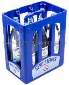 1 kasten wasser mineralwasser gerolsteiner mineralwasser naturell kasten