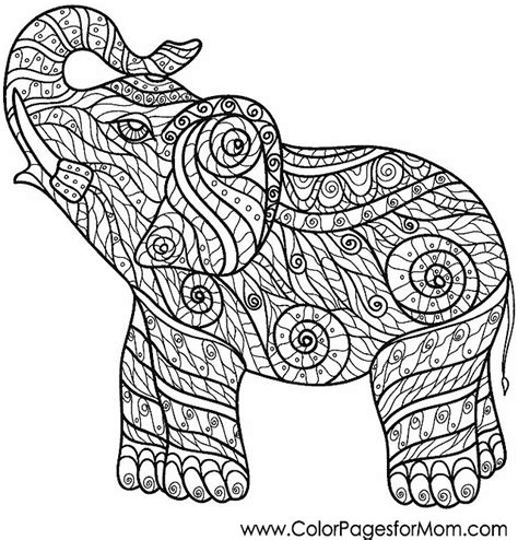 coloring pages for adults difficult elephants animals 9 advanced coloring pages