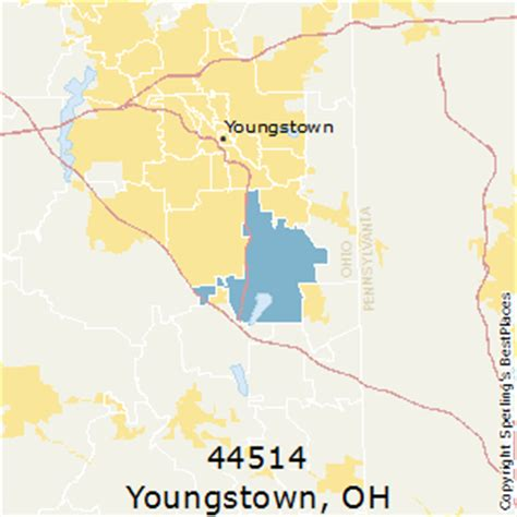 zip code map youngstown ohio best places to live in youngstown zip 44514 ohio
