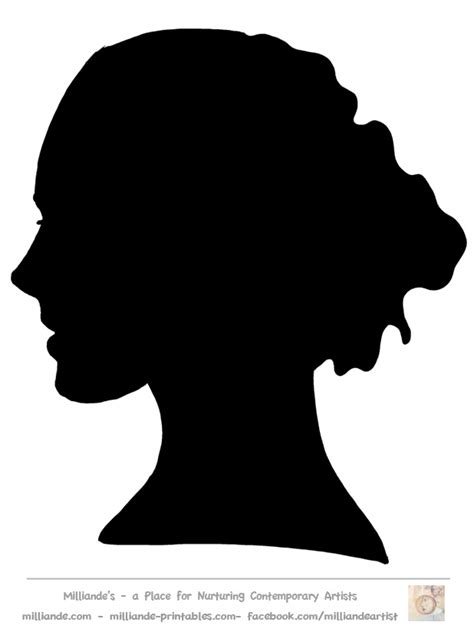 face silhouette templates printable face stencils face