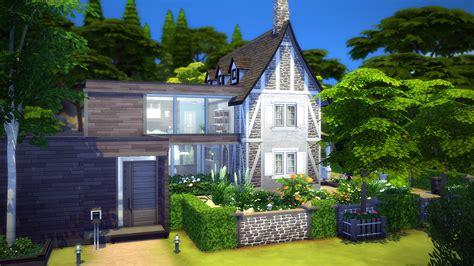 Facade De Maison Moderne 4296 by Continuum Maison Pour Les Sims 4