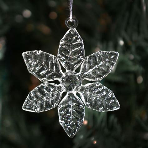 clear glass snowflakes 6 different styles christmas