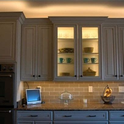 inside kitchen cabinet lighting 13 best cabinet lighting images on pinterest glass doors