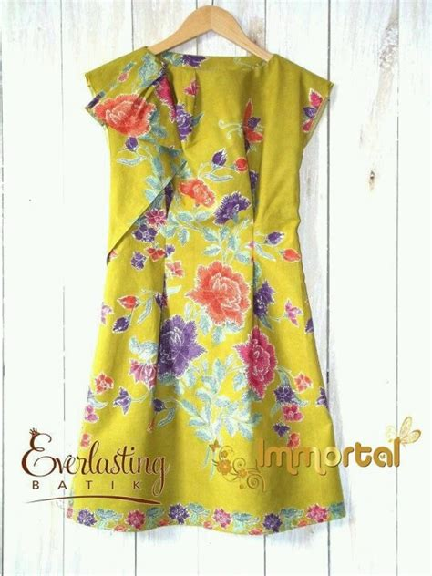 Dress Anak Yellow yellow batik dress indonesia batik