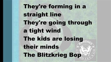 hey ho testo blitzkrieg bop hey ho let s go ortica instrumental