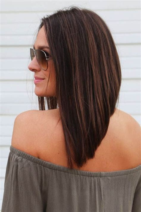 short lob hairstyle best 25 long angled bobs ideas on pinterest long angled