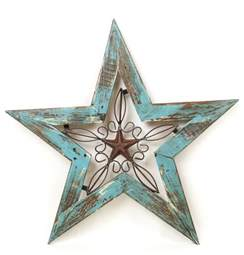 wood and iron texas star rustic wall decor by texas flag painted metal star free shipping wall