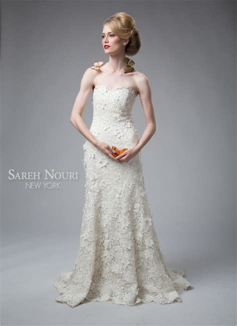 strapless trumpet wedding gown by sareh nouri 792410